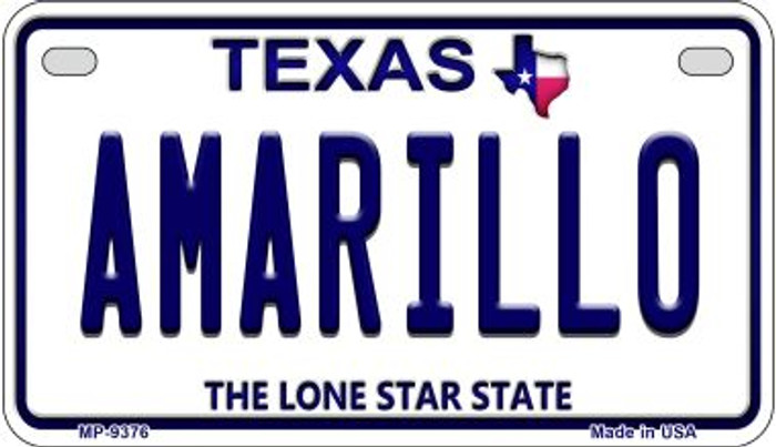 Amarillo Texas Novelty Metal Motorcycle Plate MP-9376
