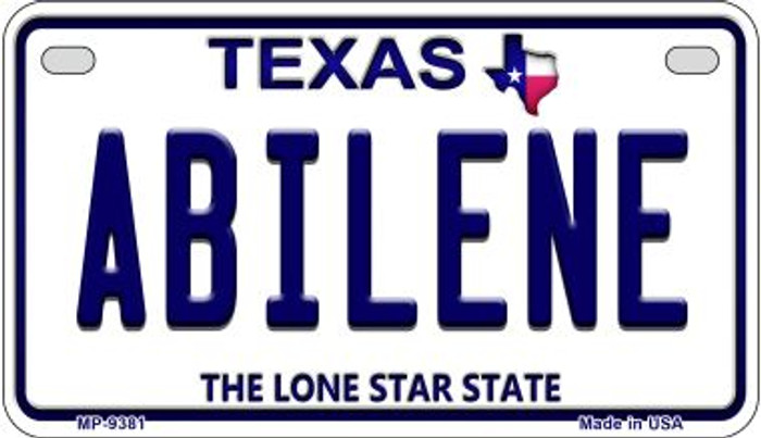 Abilene Texas Novelty Metal Motorcycle Plate MP-9381