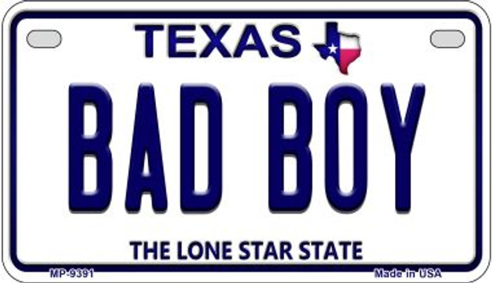 Bad Boy Texas Novelty Metal Motorcycle Plate MP-9391