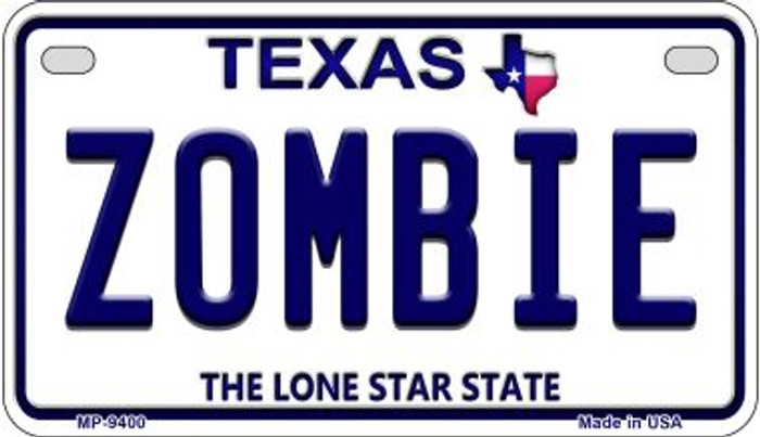 Zombie Texas Novelty Metal Motorcycle Plate MP-9400