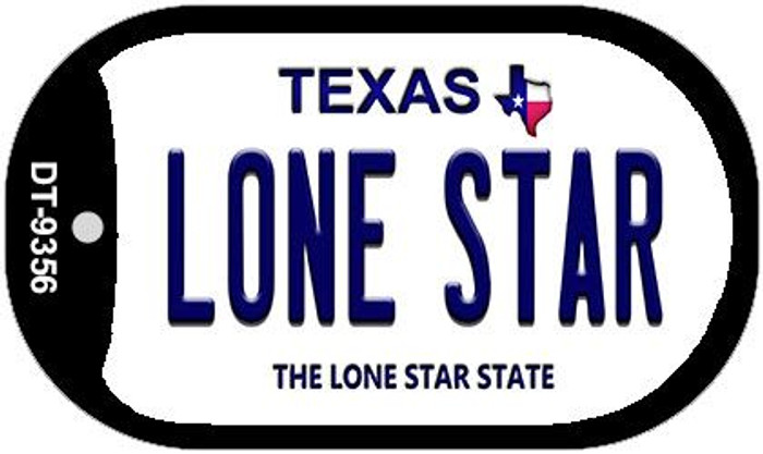 Lone Star Texas Novelty Metal Dog Tag Necklace DT-9356