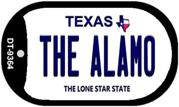 The Alamo Texas Novelty Metal Dog Tag Necklace DT-9364