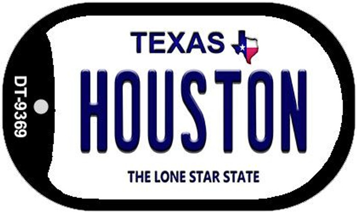Houston Texas Novelty Metal Dog Tag Necklace DT-9369