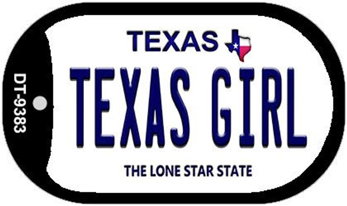 Texas Girl Novelty Metal Dog Tag Necklace DT-9383