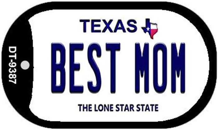 Best Mom Texas Novelty Metal Dog Tag Necklace DT-9387