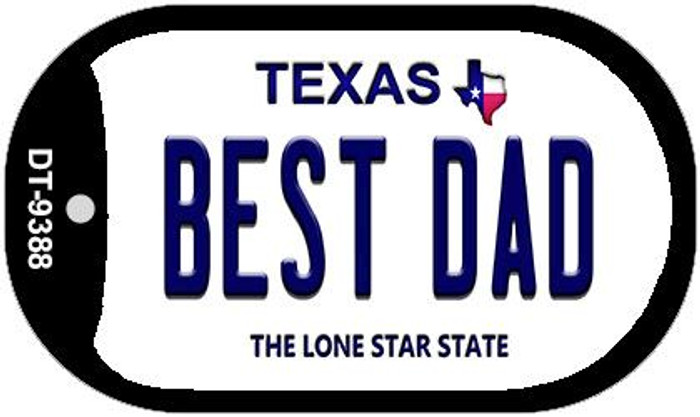 Best Dad Texas Novelty Metal Dog Tag Necklace DT-9388