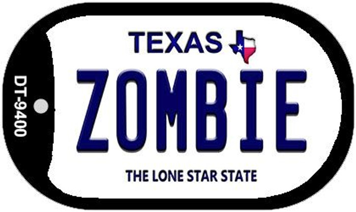 Zombie Texas Novelty Metal Dog Tag Necklace DT-9400