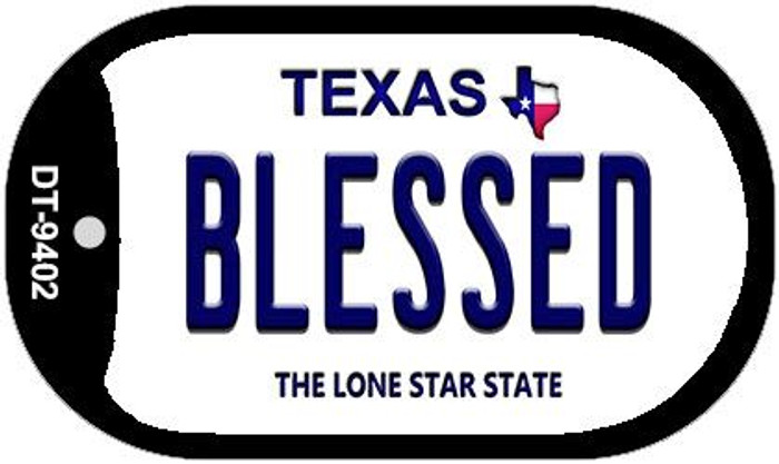 Blessed Texas Novelty Metal Dog Tag Necklace DT-9402