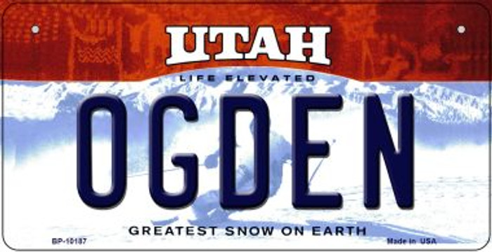 Ogden Utah Novelty Metal Bicycle Plate BP-10187