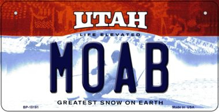 Moab Utah Novelty Metal Bicycle Plate BP-10191