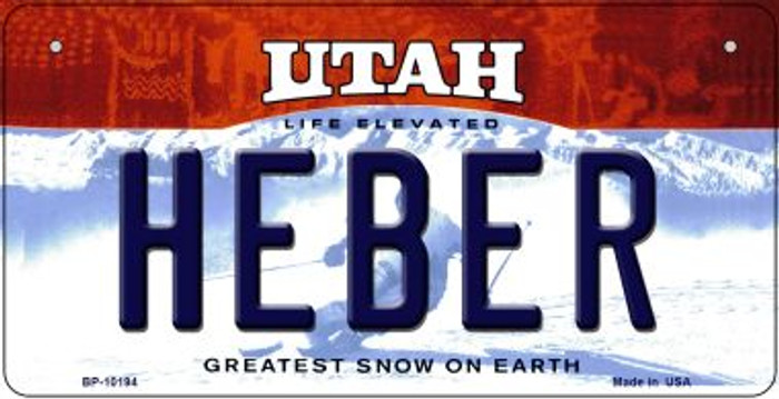 Heber Utah Novelty Metal Bicycle Plate BP-10194