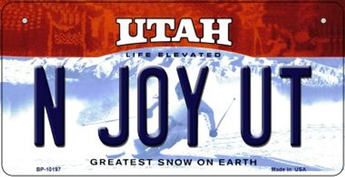 N Joy UT Utah Novelty Metal Bicycle Plate BP-10197