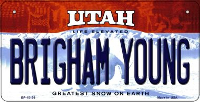 Brigham Young Utah Novelty Metal Bicycle Plate BP-10199