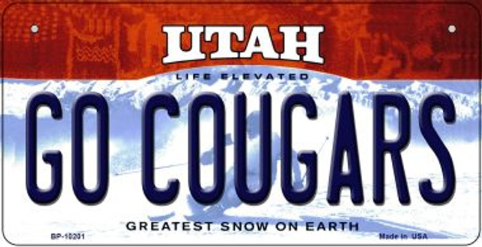 Go Cougars Utah Novelty Metal Bicycle Plate BP-10201