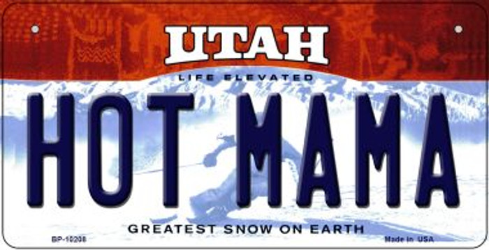 Hot Mama Utah Novelty Metal Bicycle Plate BP-10208