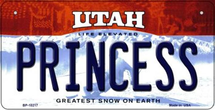 Princess Utah Novelty Metal Bicycle Plate BP-10217