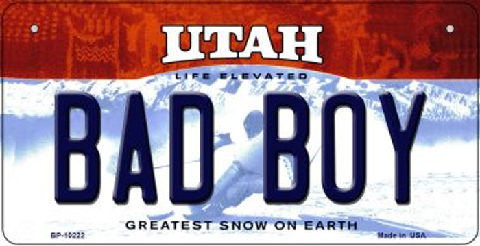 Bad Boy Utah Novelty Metal Bicycle Plate BP-10222