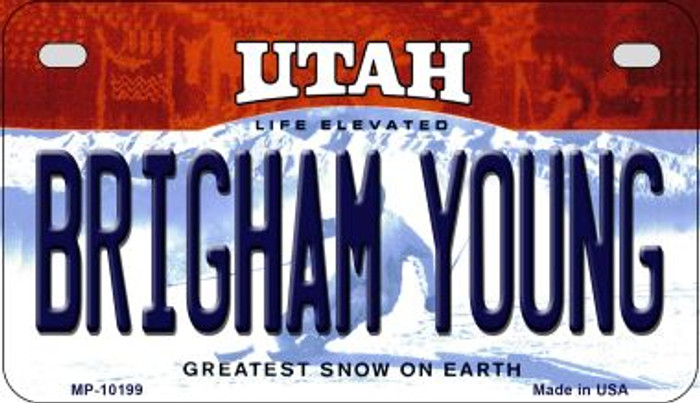 Brigham Young Utah Novelty Metal Motorcycle Plate MP-10199
