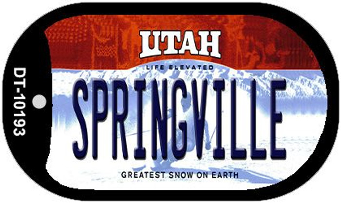 Springville Utah Novelty Metal Dog Tag Necklace DT-10193