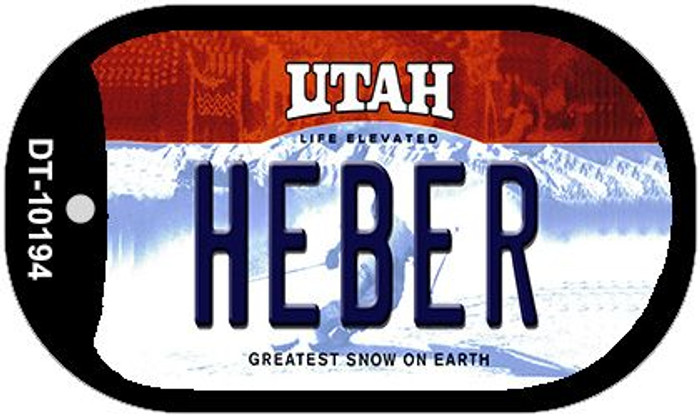 Heber Utah Novelty Metal Dog Tag Necklace DT-10194