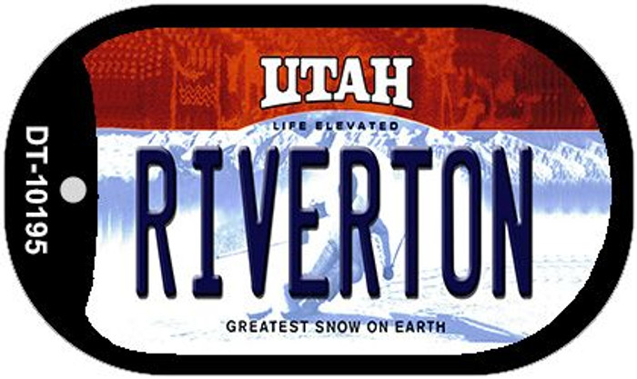 Riverton Utah Novelty Metal Dog Tag Necklace DT-10195