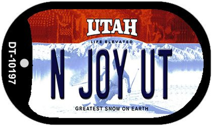 N Joy UT Utah Novelty Metal Dog Tag Necklace DT-10197
