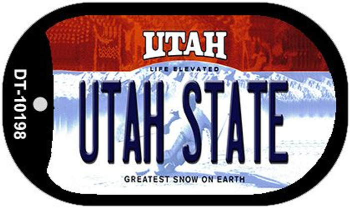 Utah State Novelty Metal Dog Tag Necklace DT-10198