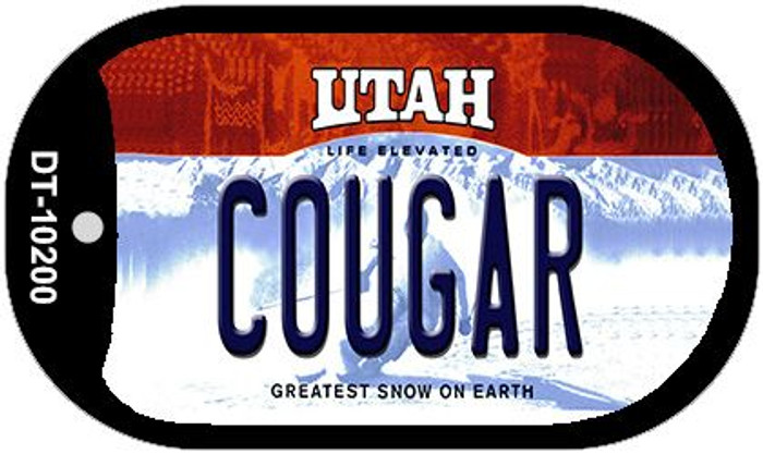 Cougar Utah Novelty Metal Dog Tag Necklace DT-10200