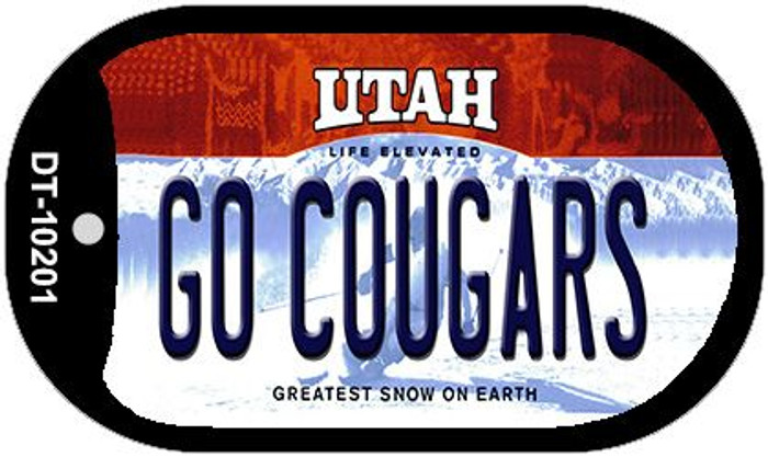 Go Cougars Utah Novelty Metal Dog Tag Necklace DT-10201