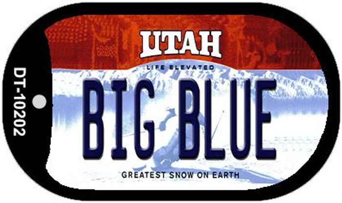 Big Blue Utah Novelty Metal Dog Tag Necklace DT-10202