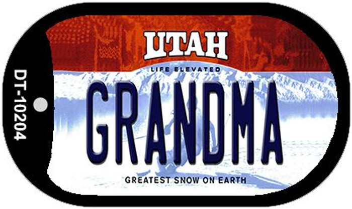 Grandma Utah Novelty Metal Dog Tag Necklace DT-10204