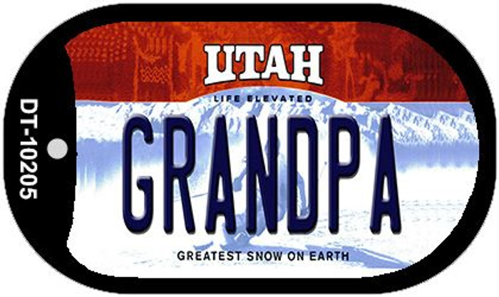 Grandpa Utah Novelty Metal Dog Tag Necklace DT-10205