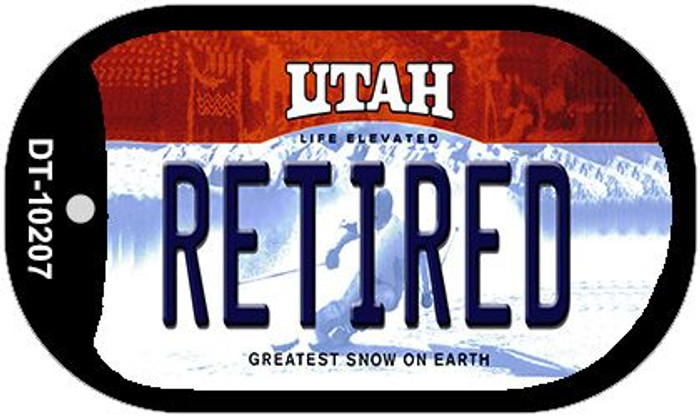 Retired Utah Novelty Metal Dog Tag Necklace DT-10207