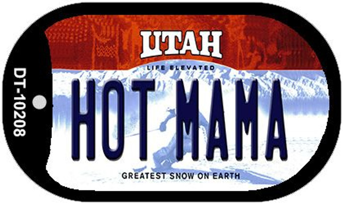 Hot Mama Utah Novelty Metal Dog Tag Necklace DT-10208