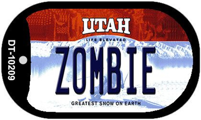 Zombie Utah Novelty Metal Dog Tag Necklace DT-10209