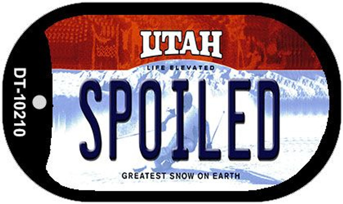 Spoiled Utah Novelty Metal Dog Tag Necklace DT-10210