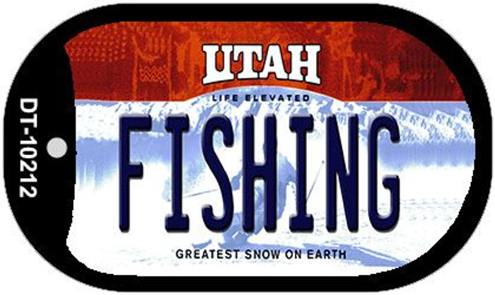 Fishing Utah Novelty Metal Dog Tag Necklace DT-10212