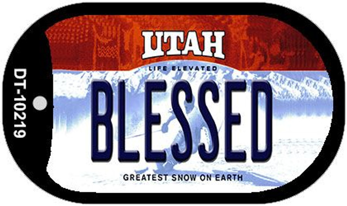 Blessed Utah Novelty Metal Dog Tag Necklace DT-10219