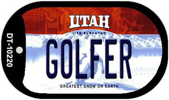 Golfer Utah Novelty Metal Dog Tag Necklace DT-10220