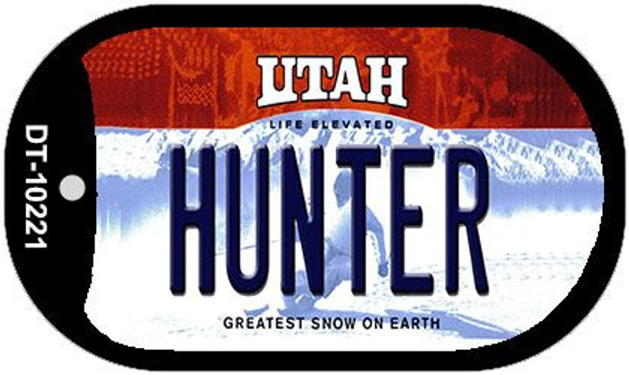 Hunter Utah Novelty Metal Dog Tag Necklace DT-10221