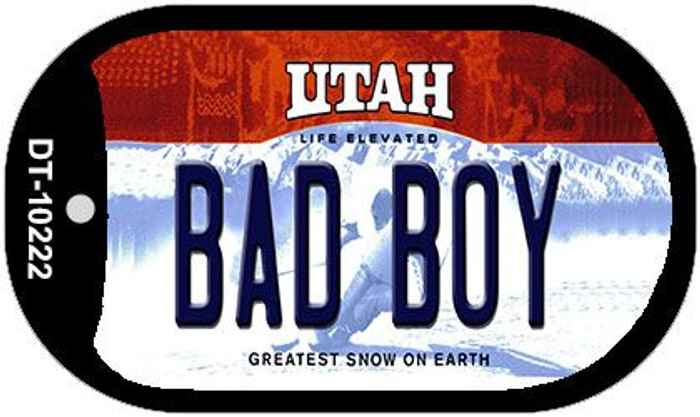Bad Boy Utah Novelty Metal Dog Tag Necklace DT-10222