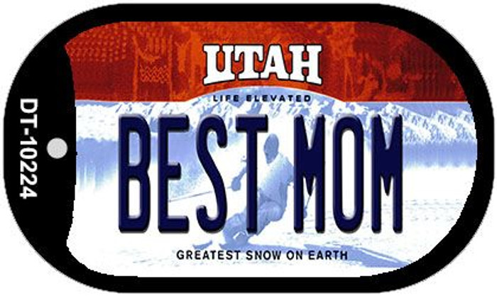 Best Mom Utah Novelty Metal Dog Tag Necklace DT-10224