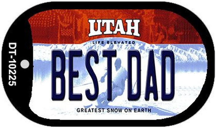Best Dad Utah Novelty Metal Dog Tag Necklace DT-10225