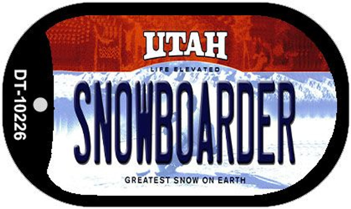 Snowboarder Utah Novelty Metal Dog Tag Necklace DT-10226