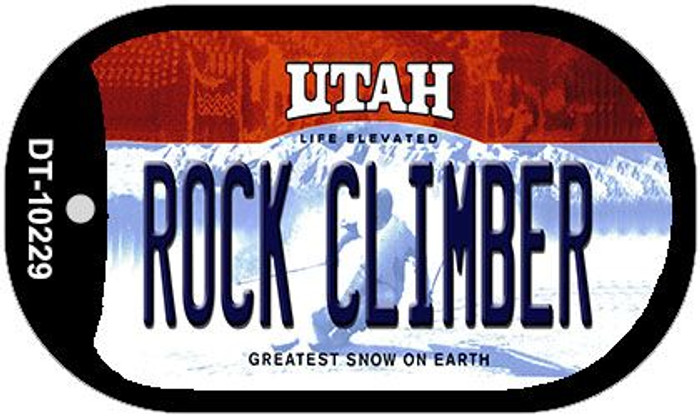 Rock Climbing Utah Novelty Metal Dog Tag Necklace DT-10229