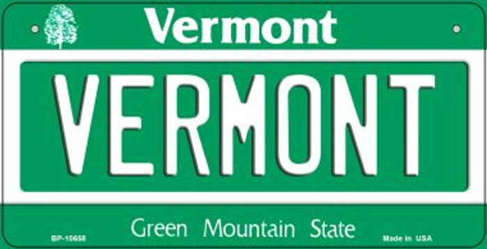 Vermont Novelty Metal Bicycle Plate BP-10658