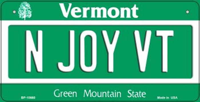 N Joy VT Vermont Novelty Metal Bicycle Plate BP-10660