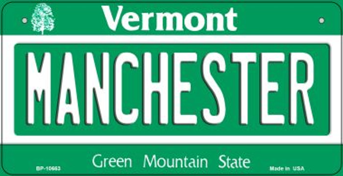 Manchester Vermont Novelty Metal Bicycle Plate BP-10663