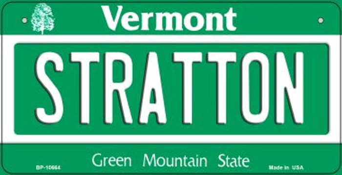 Stratton Vermont Novelty Metal Bicycle Plate BP-10664