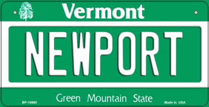 Newport Vermont Novelty Metal Bicycle Plate BP-10665